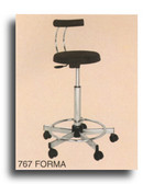 Pibbs 767 Forma Stool with Backrest