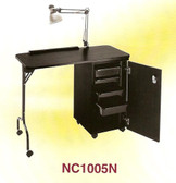 Pibbs NC1005N Manicure Table w/Locking Cabinet