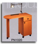 Pibbs PN1020 Laminated Straight Top Nail Center w/Lamp & Pad