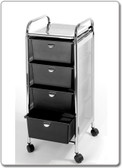 Pibbs D27 4 Drawer Cart with Metal Frame with Side Panels