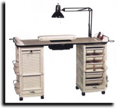 Kayline G607 Malibu Nail Care Center Double Cabinets