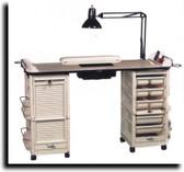 Kayline G607 Malibu Nail Care Center Double Cabinets