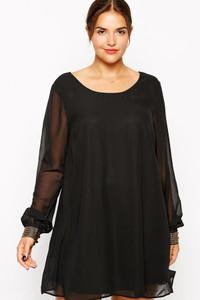 Plus Size Black Mini Dress