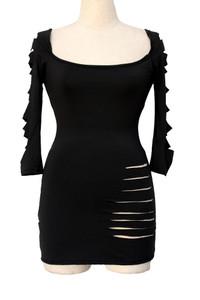 Black Plus Barracuda Club Dress