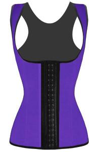 Plus Size Purple Waist Cincher 4 Steel Bones Underbust Corset