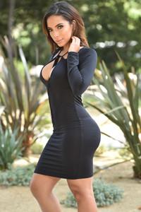 Black String Theory Mini Dress