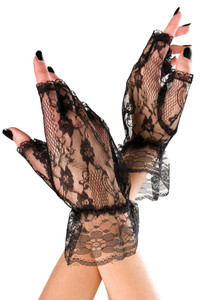 Black Lace Mini Gloves
