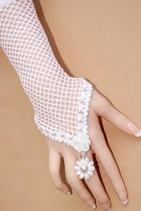 Sacred White Netty Pearl Wedding Glove-style Bracelet