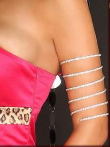 Sexy Jewelry Rhinestone Stretchy Wrap Around Armlet Fashion Bracelet