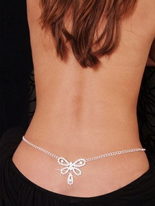Sexy Butterfly Rhinestone Diamond Belly Dancer Chain Lower Back