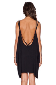 Double Straps Backless Jersey Dress