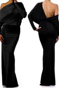 Black Convertible Multiway Jersey Maxi Dress