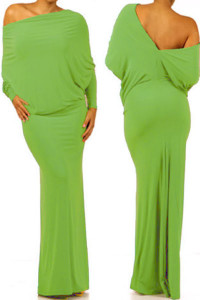 Light Green Convertible Multiway Jersey Maxi Dress