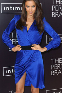 Elegant Blue Wrap V Neck Celebrity Jersey Dress