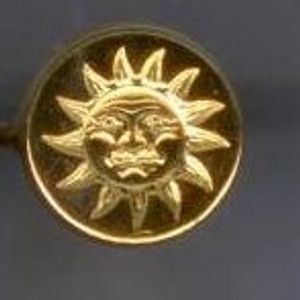 Brass Wax Seal Stamper - Sun