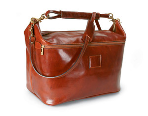 Lux Italian Leather Tote 2 - the weekender