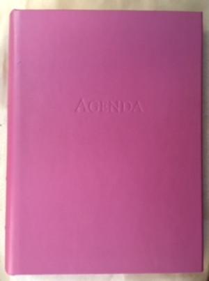 Pink 3-ring looseleaf Agenda
