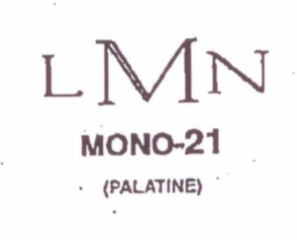 Classic Mono #21 Last initial larger, in center