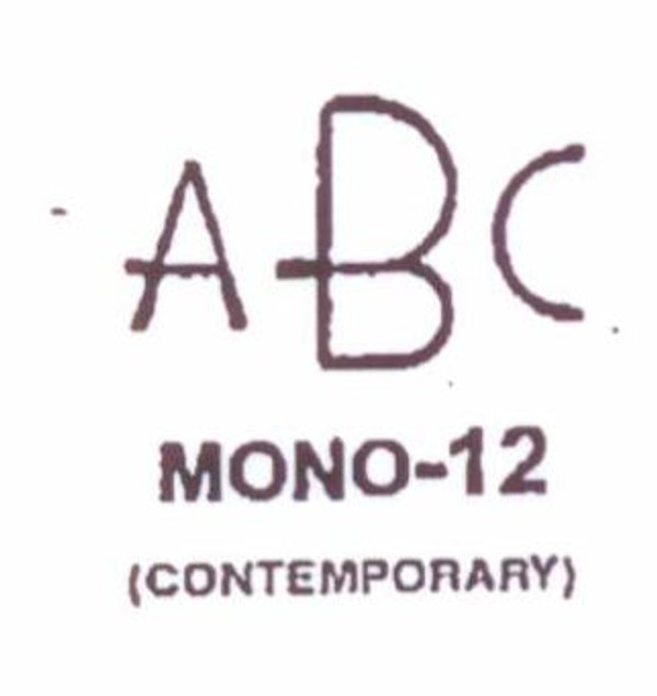 Classic Mono #12 Last initial larger, in center