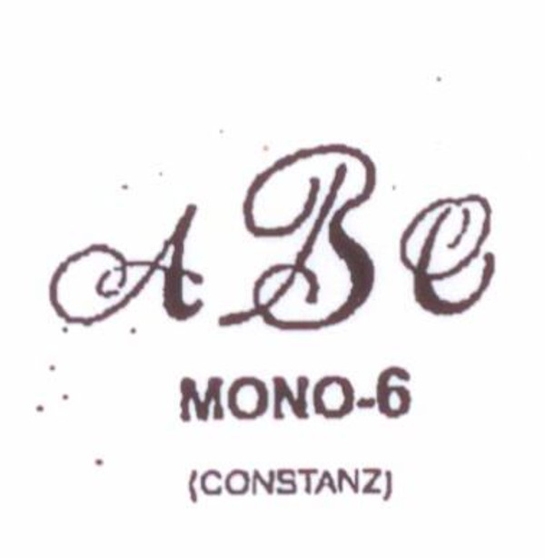 Classic Mono #6 Last initial larger, in center