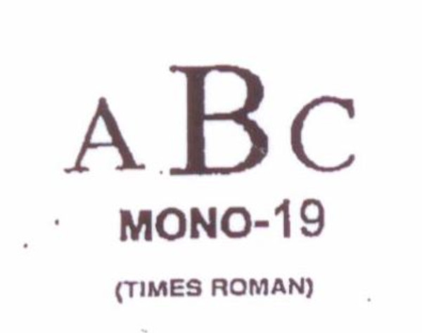 Classic Mono #19 Last initial larger, in center