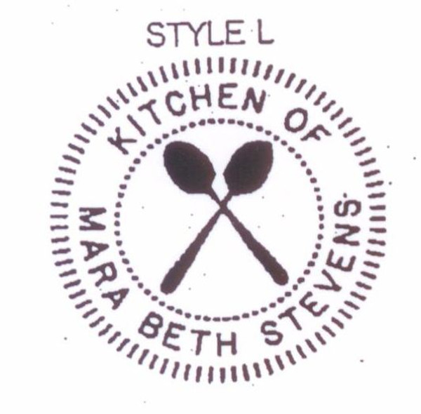Style #L - Kitchen of - crossed spoons for anyone who loves to cook