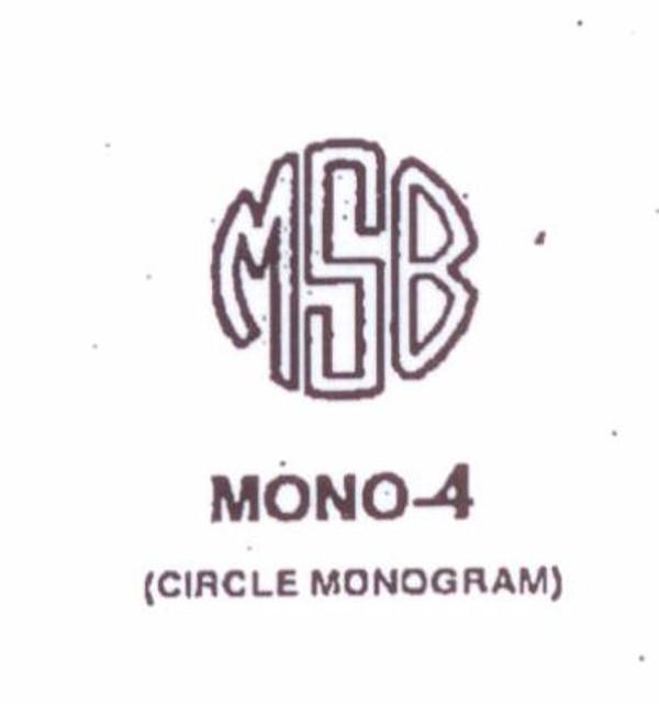 Classic Mono #4 Last initial larger, in center