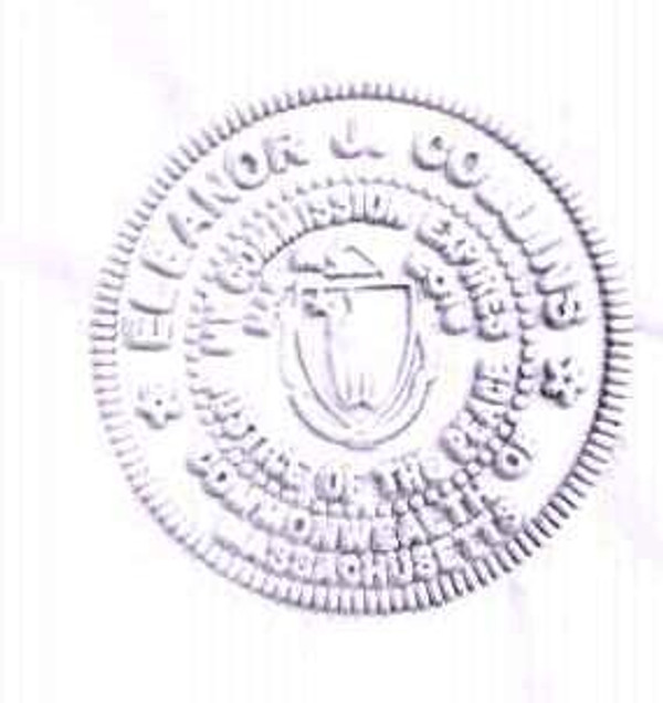 Example of notary embosser