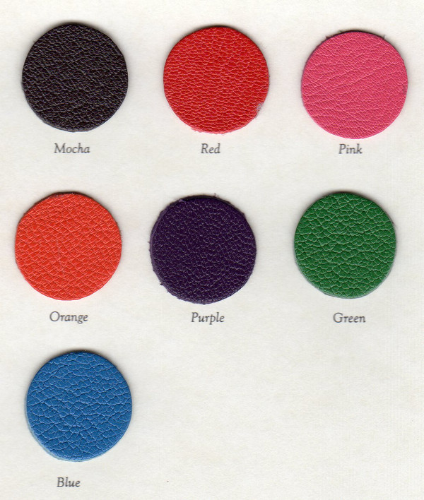 iPad Mini Colors - Smooth Bright Leather - Mocha, Hot Pink, Kelly green, Royal Blue, and Purple - Only - available