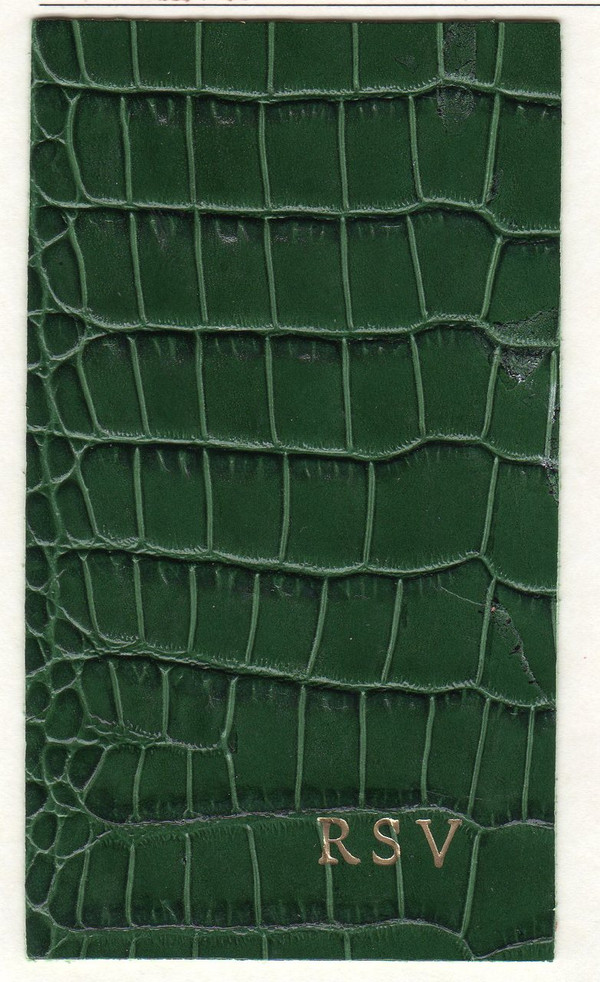 iPad Mini Forest Green Croc Embossed with Gold Monogram