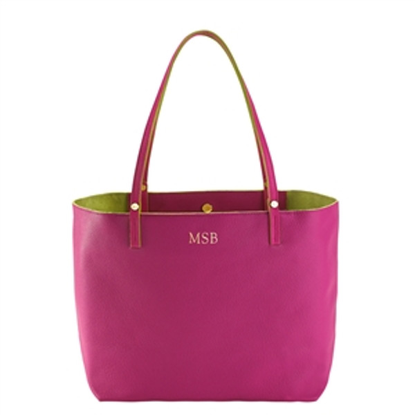 Sunset Pink Leather Tote
