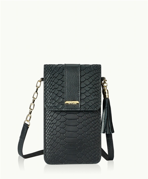 Python Leather - Night Sky Black