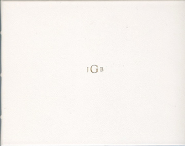 White Leather Wedding Guest Book with custom monogram