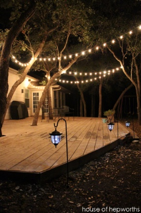 Outdoor Tea Lights 6 diy outdoor lighting ideas that will make your patio shine hanging mason jars for this diy project you will need a few mason jars some string and some battery powered tea lights place the tea lights into the workwithnaturefo