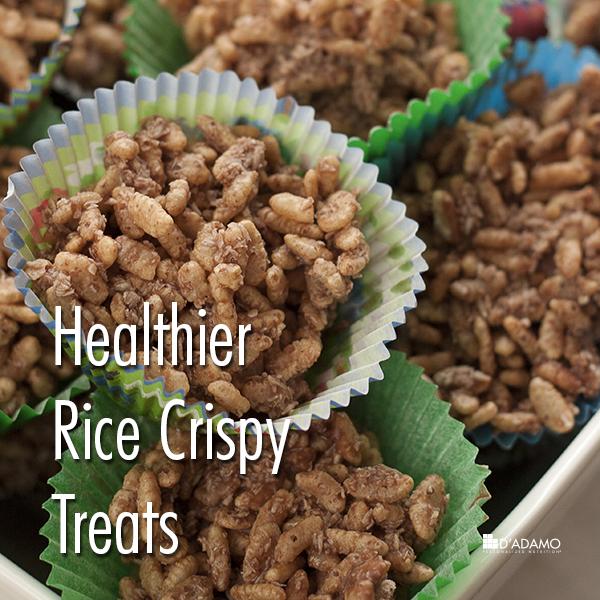 Healthier Rice Crispy Treats