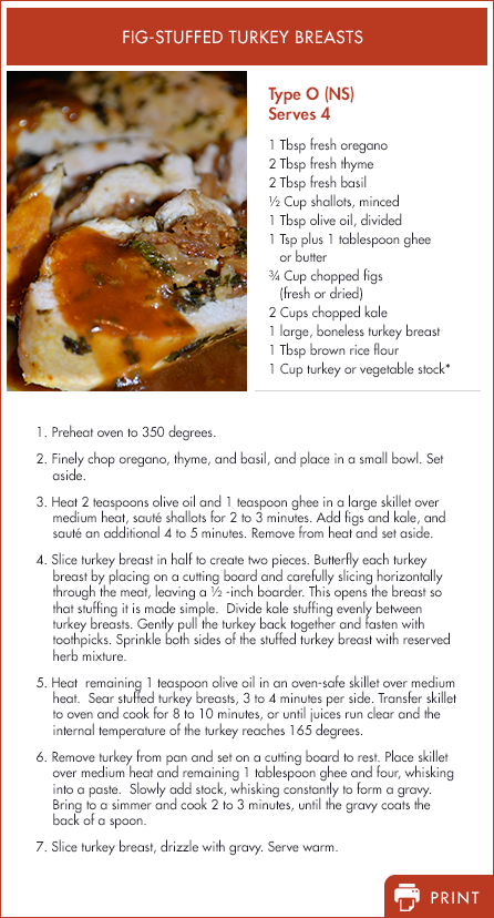 Type O - Fig Stuffed Turkey Breasts