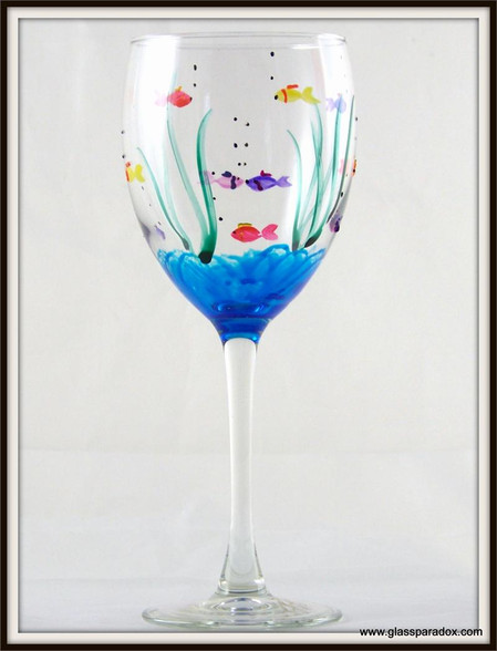 Hand-painted Fish Goblet