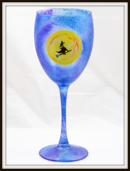 Hand-painted Halloween Goblet