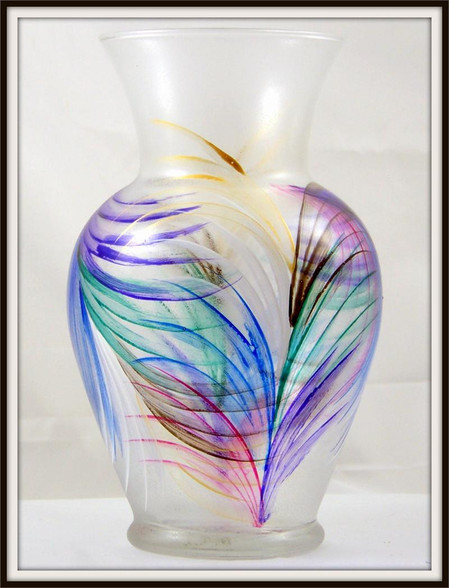 Hand-painted Fan Urn Vase