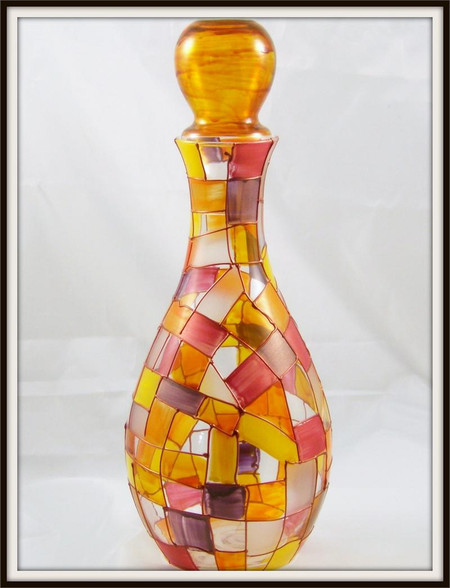 Hand-painted Autumn Decanter