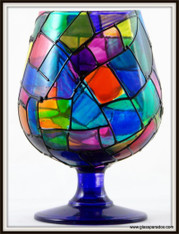 Hand-painted StainGlass Traditional Black Brandy