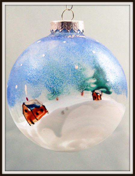 Hand-painted Winter Ornament