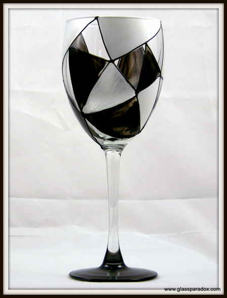 Hand-painted Granite Goblet