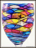 Hand-painted Sunrise Goblet - rear view