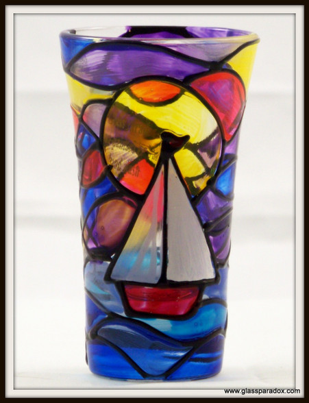Hand-painted Sunrise Shot Glass