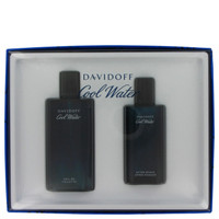 Cool Water By Davidoff Gift Set 2.5 oz After Shave Splash for Men