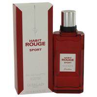 Habit Rouge Sport By Guerlain 3.4 oz Eau De Toilette Spray for Men