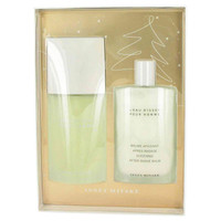 L'Eau D'Issey By Issey Miyake Gift Set with 3.4 oz After Shave Balm for Men