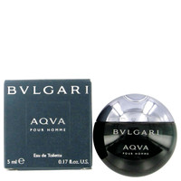 Aqua Pour Homme By Bvlgari .17 oz Mini EDT for Men