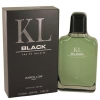 Kl Black By Karen Low 3.4 oz Eau De Toilette Spray for Men